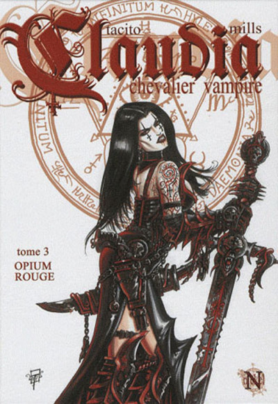 Couverture claudia tome 3 - opium rouge