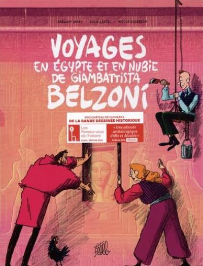 Couverture Voyages en Egypte et en Nubie de Giambattista Belzoni - coffret tomes 1 à 3