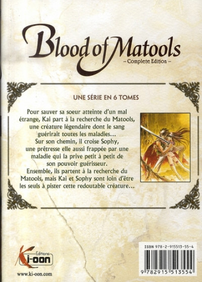Dos blood of matools tome 1