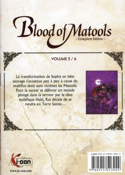 Dos blood of matools tome 5