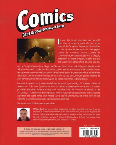 Dos comics ; dans la peau des super héros