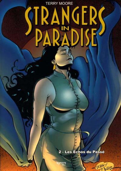 Couverture strangers in paradise tome 2 - les échos du passé