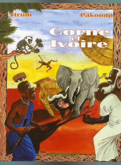 Couverture corne et ivoire