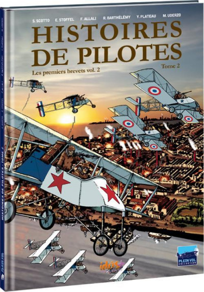Couverture histoires de pilotes T.2 - les premiers brevets tome 2