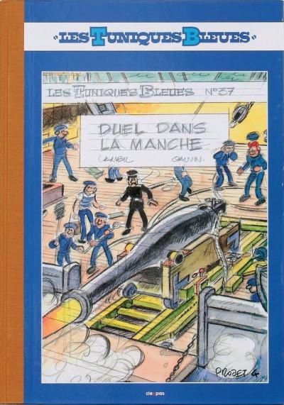 Couverture Les tuniques Bleues - tirage de tête tome 37 - Duel dans la Manche