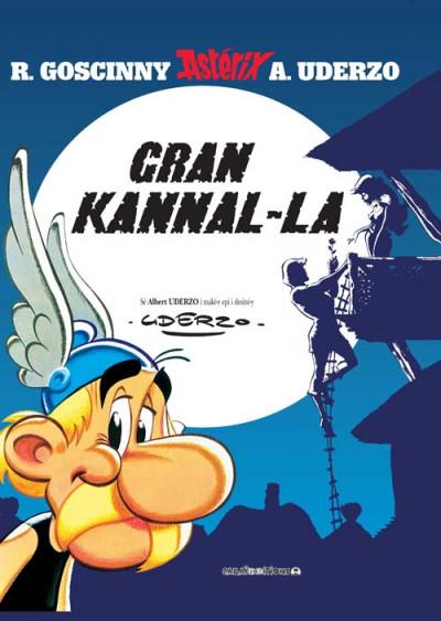 Couverture Asterix ; gran kannal-la ; le grand fossé (en créole)