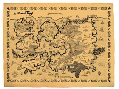 Couverture lanfeust de troy ; carte du monde de troy