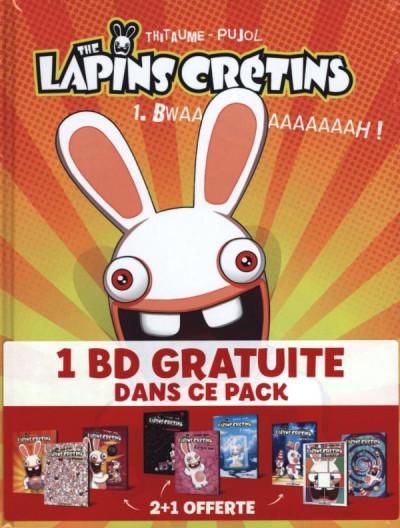Couverture Lapins crétins - pack 2+1 - tomes 1 à 3