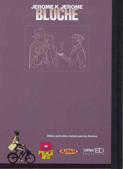 Dos Jérôme K. Jérôme Bloche - tirage de luxe tome 17 - La marionnette