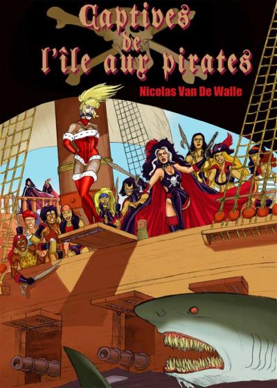 Couverture captives de l'île aux pirates