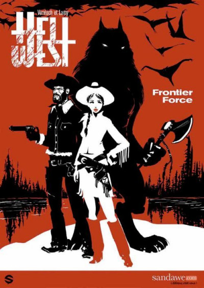 Couverture hell west tome 1 - frontier force