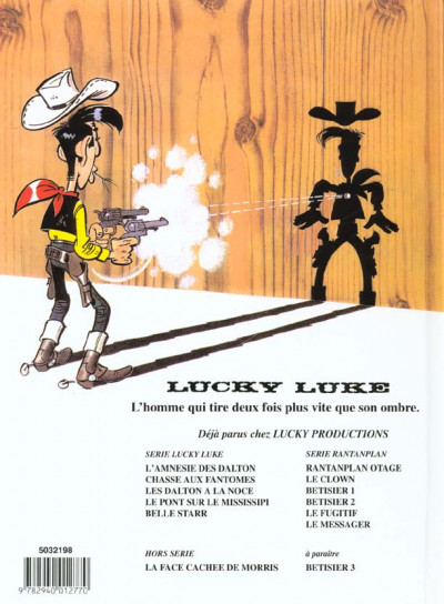Dos lucky luke tome 34 - belle star (ancienne édition)