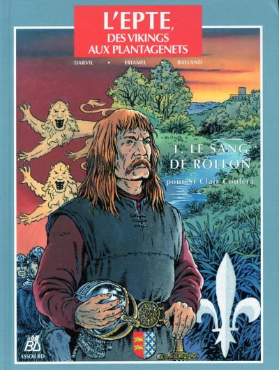 Couverture l'epte, des vikings aux plantagenets tome 1 - le sang de rollon pour st clair coulera
