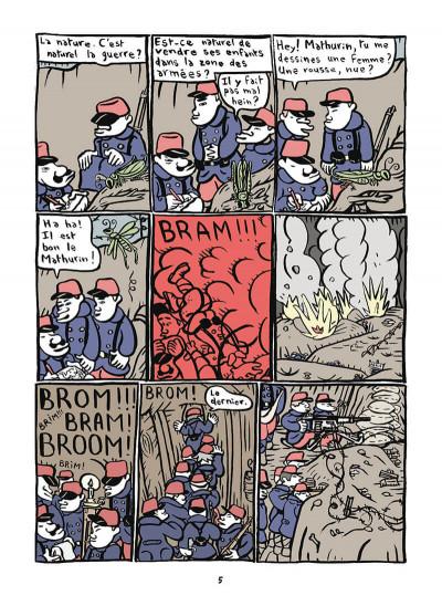 Page 6 Mathurin soldat ; un crayon dans le canon