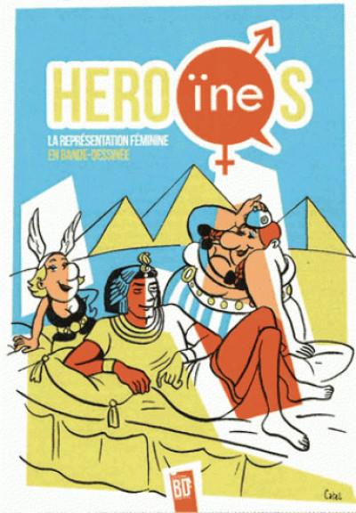 Couverture Héro(ïne)s - La représentation féminine en base dessinée