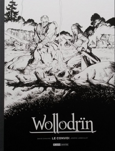 Couverture Wollodrïn - tirage de tête tomes 3 et 4 - Le convoi