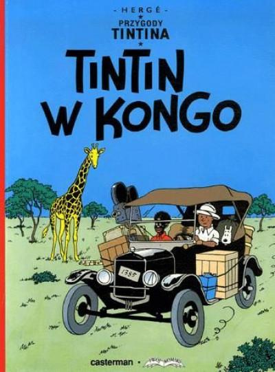 Couverture tintin tome 2 - en polonais - przygody tintina tome 2 - tintin w kongo