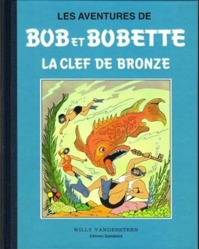 Couverture Bob et Bobette (Collection classique bleue) - 2/8 - 2 - La Clef de Bronze (éd. 1994)