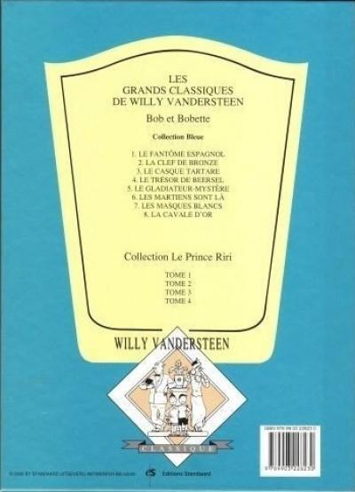 Dos Bob et Bobette (Collection classique bleue) tome 5 - Le Gladiateur-Mystère (éd. 2009)
