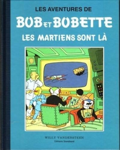 Couverture Bob et Bobette (Collection classique bleue) tome 6 - Les Martiens sont là (éd. 2009)