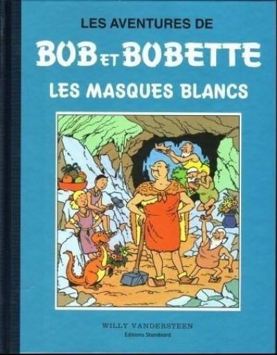 Couverture Bob et Bobette (Collection classique bleue) - 7/8 - 7 - Les Masques Blancs (éd. 1997)