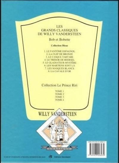 Dos Bob et Bobette (Collection classique bleue) - 7/8 - 7 - Les Masques Blancs (éd. 1997)