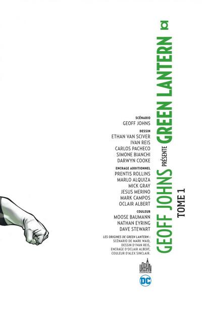 Page 3 Geoff Johns présente Green Lantern - intégrale tome 1