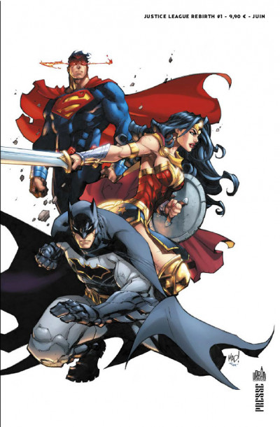 Couverture Justice league rebirth tome 1 - Variant Cover