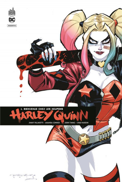 Couverture Harley Quinn rebirth tome 1