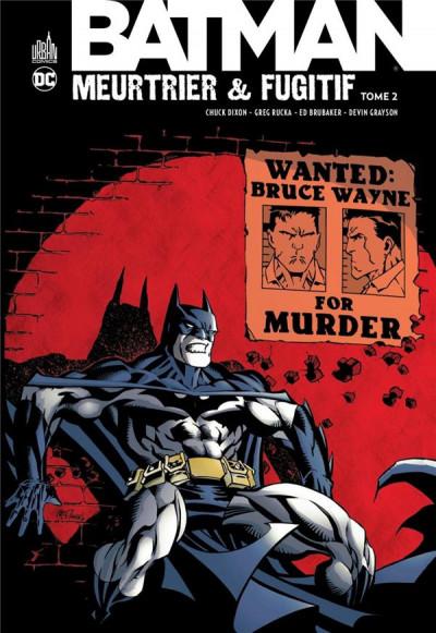 Couverture Batman meurtrier & fugitif tome 2