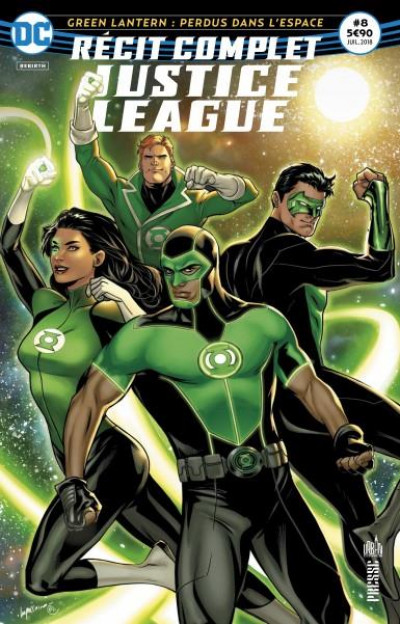 Couverture Justice League récit complet tome 8 - Perdus dans l'espace