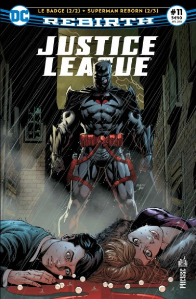 Couverture Justice League rebirth tome 11 - Le badge (II)