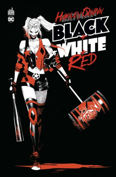 Couverture Harley Quinn black + white + red