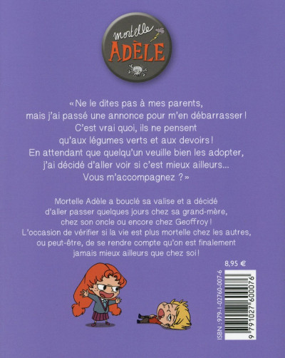Dos mortelle Adèle tome 8 - on ne choisit pas sa famille !