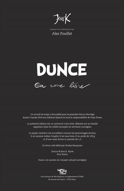 Page 3 Dunce - en roue libre