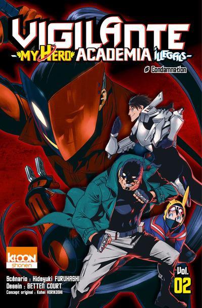 Couverture Vigilante - my hero academia illegals tome 2