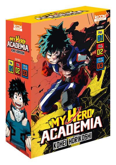 Couverture My hero academia - coffret tomes 1 à 3