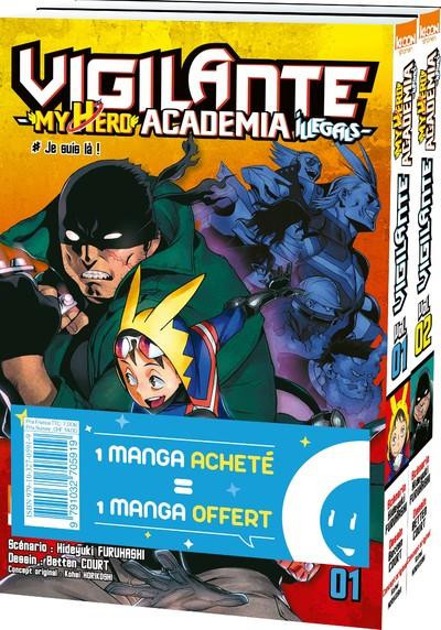 Couverture Vigilante - my hero academia illegals - pack tomes 1 et 2
