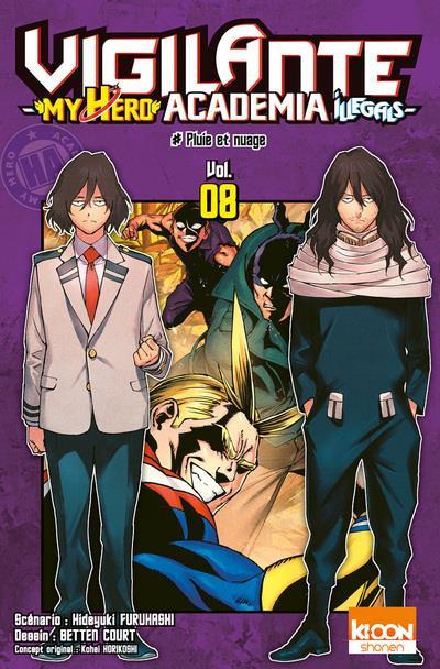 Couverture Vigilante - my hero Academia illegals tome 8