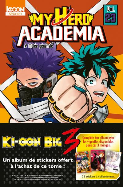 Couverture My hero academia tome 23 (Op Big 3)