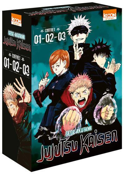 Couverture Jujutsu Kaisen - coffret tomes 1 à 3