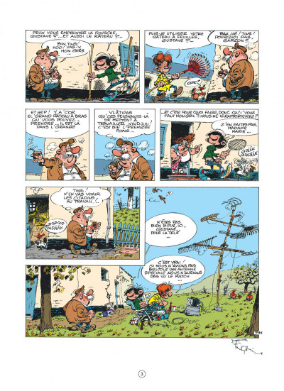 Page 3 Gaston (édition 2018) tome 17
