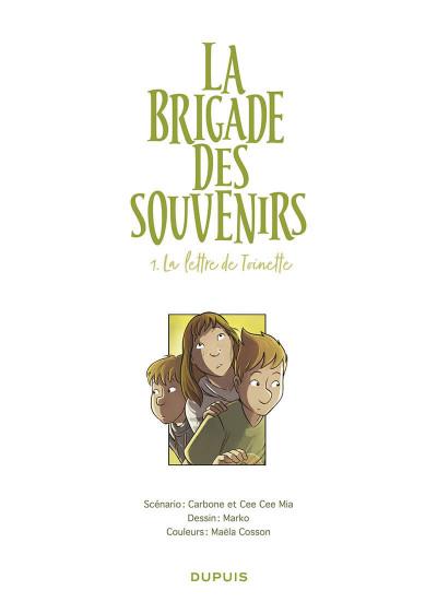 Page 1 La brigade des souvenirs tome 1