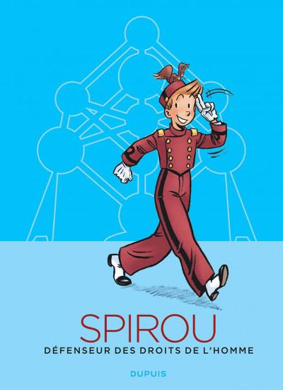 Couverture Spirou, défenseur des droits de l'homme - édition atomium