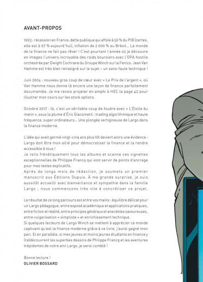 Page 4 Largo Winch - introduction à la finance
