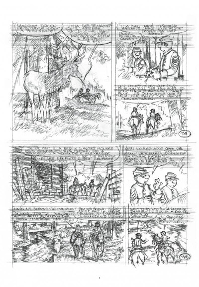 Page 8 Les tuniques bleues - grand format n&b tome 63
