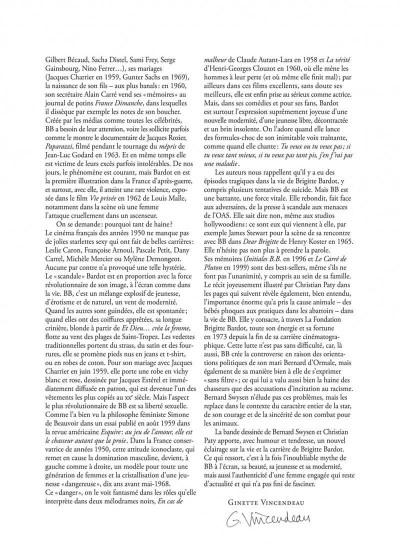 Page 4 Les étoiles de l'histoire tome 3 - Brigitte Bardot