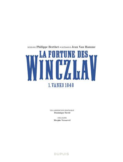 Page 1 La fortune des Winczlav tome 1