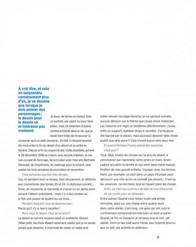 Page 9 Largo winch - Entretiens - L'art du dessin de Philippe Francq