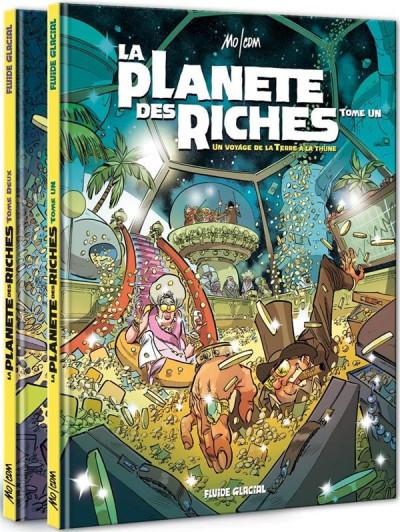 Couverture La planète des riches - pack tomes 1 et 2